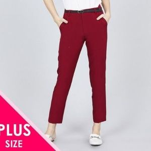 Pants - Classic woven pants w/belt